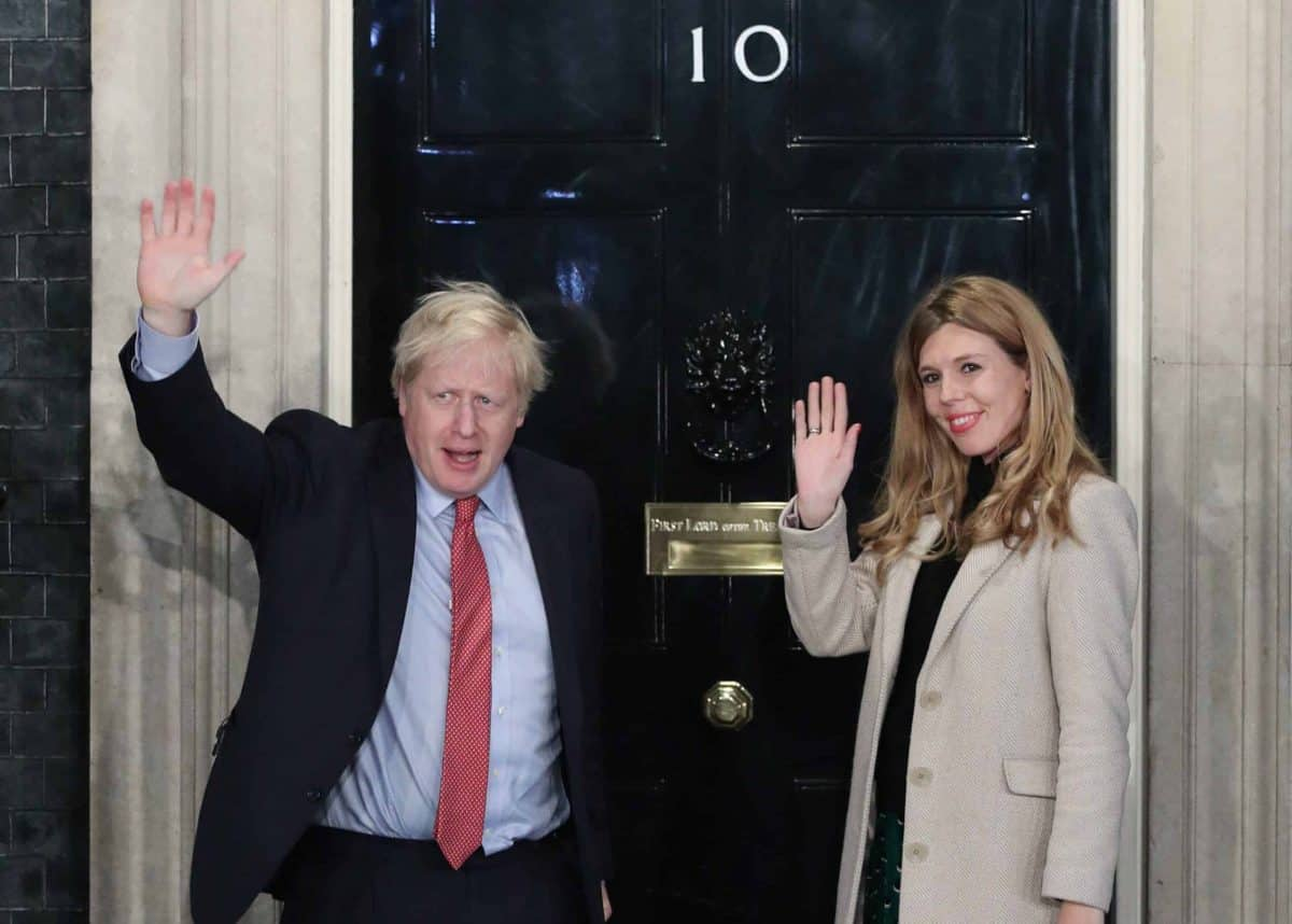 Prime Minister Boris Johnson girlfriend Carrie Symonds Credit;PA
