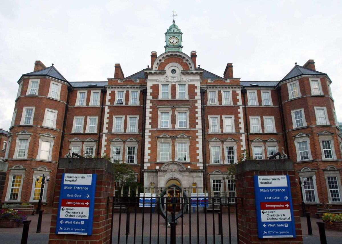 The Hammersmith Hospital in London where British Prime Minister Tony Blair is having medical treatment for a recurring heart condition.