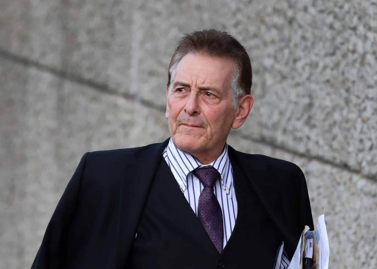Landlord and property baron Nicholas van Hoogstraten - now named Nicholas Adolf von Hessen - arrives at Brighton and Hove Magistrates' Court, in Brighton, where he is due to stand trial for a public order offence after using threatening words and behaviour.