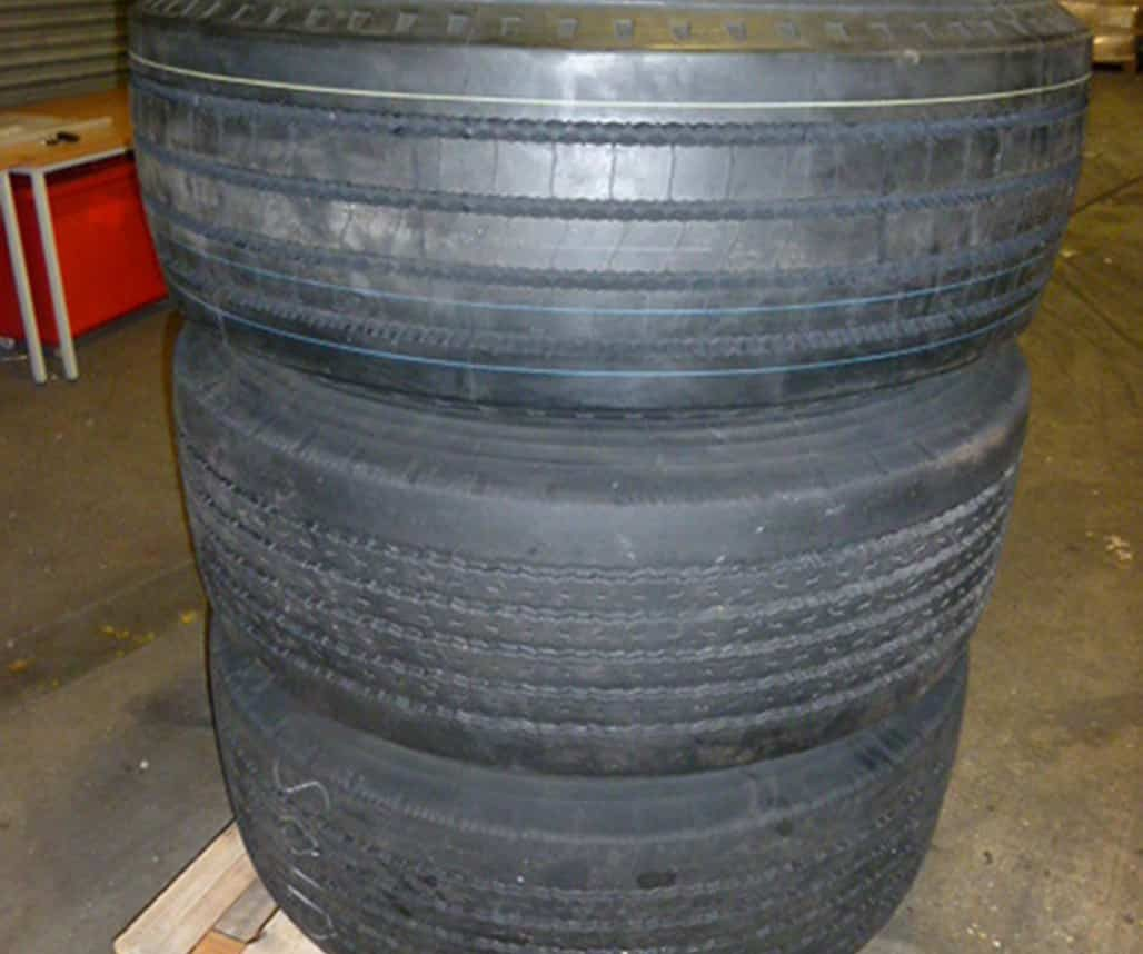Undated handout photo issued by the National Crime Agency of tyres which were found stuffed with cocaine with an estimated street value of £50 million on the back of a lorry. The huge drugs seizure was made in Dover, Kent, on Wednesday evening, the NCA said. The lorry driver, 56-year-old Kawus Rafiei, from Riedbahn in Germany, was questioned and later charged with the importation of a controlled substance.
