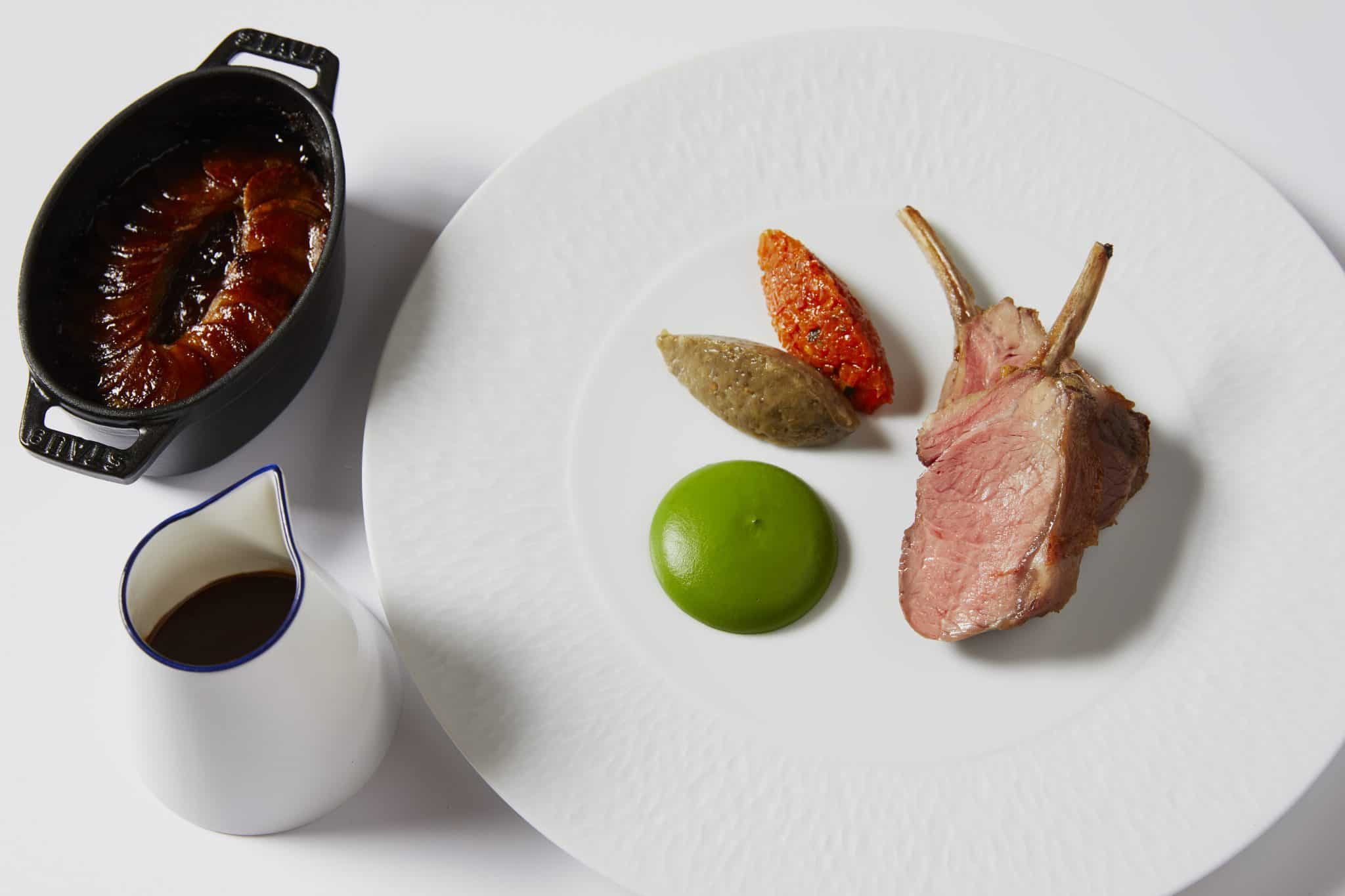 The Grill at The Dorchester-Herdwick lamb rack, ratatouille, with pomme boulangere-highres3