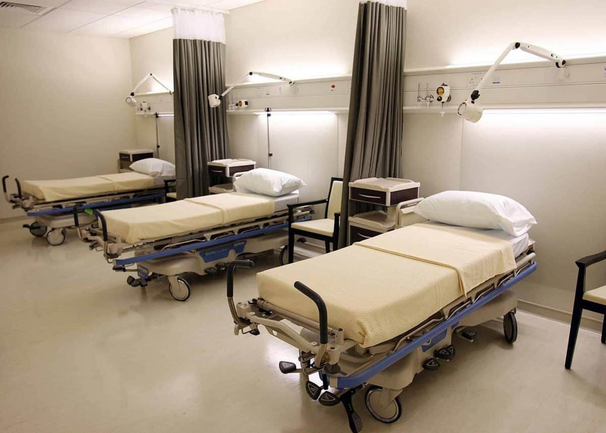 Beds in a new ward at Beacon Hospital in Sandyford, Dublin.