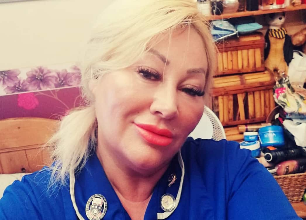 Nurse Kay Perry, 52.  Credit;SWNS