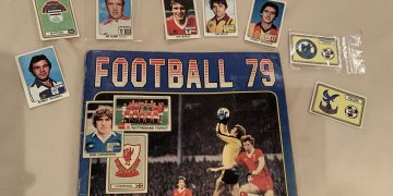 The 1979 sticker book with the stickers found by Laurensss. See SWNS story SWLEstickers; A football mad dad has finally completed his Panini sticker book with help from his thoughtful daughter - 41 years after he first started it. John Moore, 52, was only 12 when he started collecting cards in the school playground and very nearly finished the annual. The Spurs fan had to collect 594 stickers of football players from the English first and second division and Scottish premier division from 1979 - but was 11 short. John, from Chigwell, Essex had forgotten about the project until he was looking through his old football memorabilia in the loft to show his daughter last month. When sports journalist Lauren, 22, saw he had a few cards missing, she decided to help him fill the book during lockdown. It took Lauren a month to track down all the missing cards online and she had to buy other people's cards who had been stuck down in their own books. Eventually she got them all together and surprised her dad with the sweet gesture last Saturday (25 April).