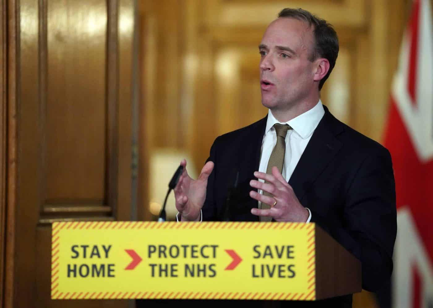 Raab says United Kingdom virus plan 'is working'