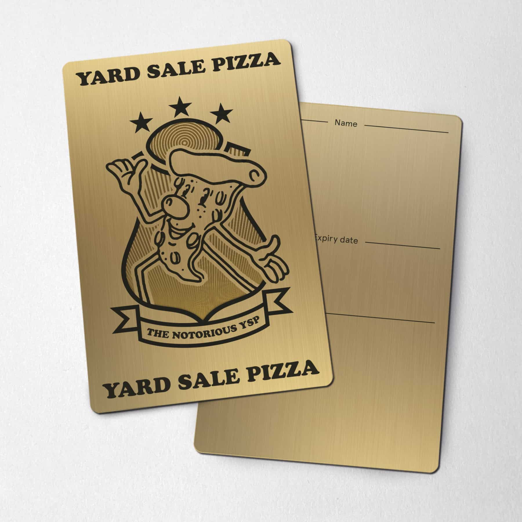 Yard Sale Pizza YSP Card