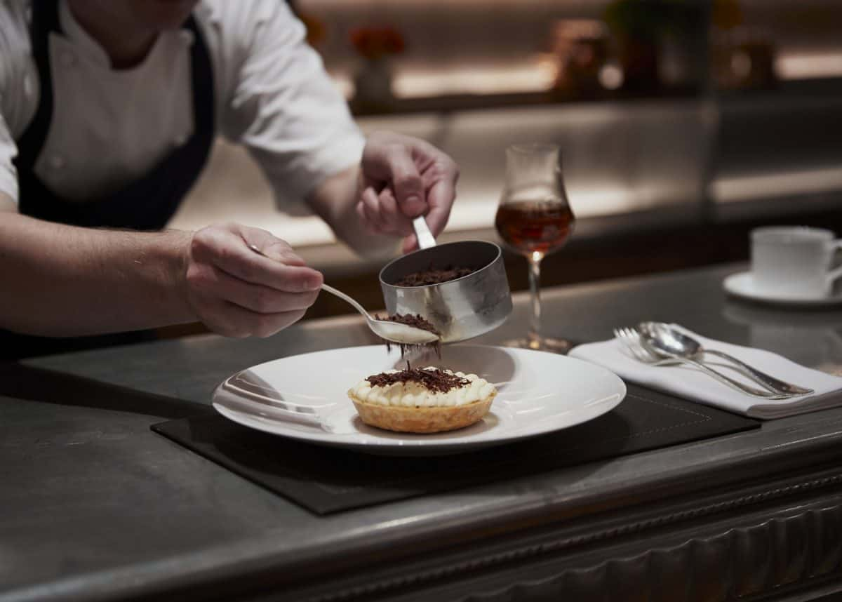 Banoffee tart at Pudding Bar at The Dorchester Banoffee pie