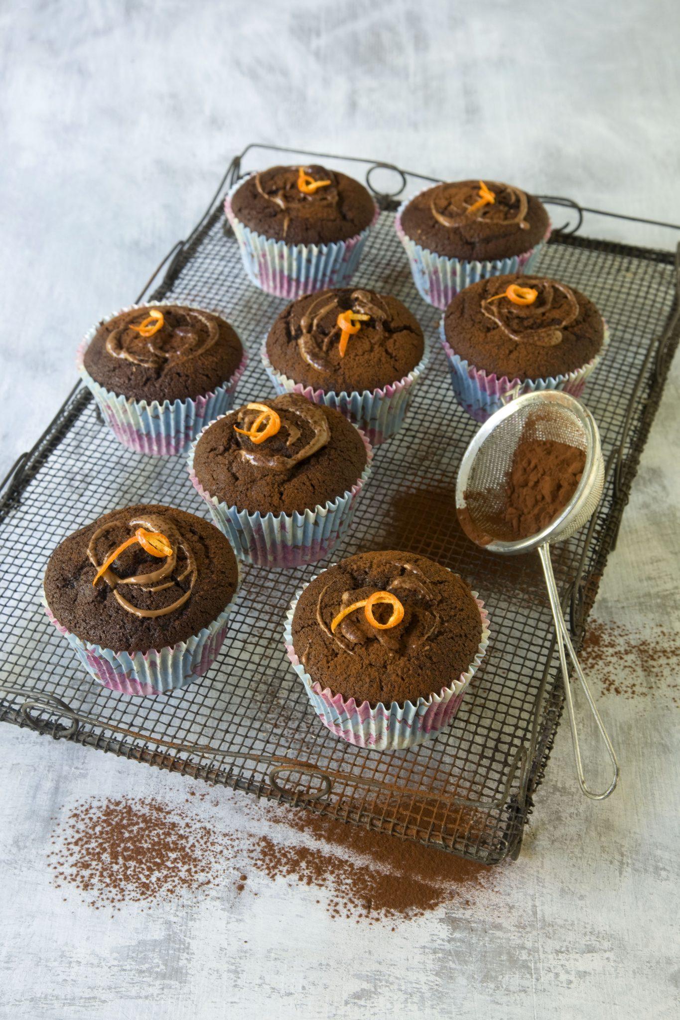Alzheimer's Society Cupcake Day Vegan chocolate orange cupcakes