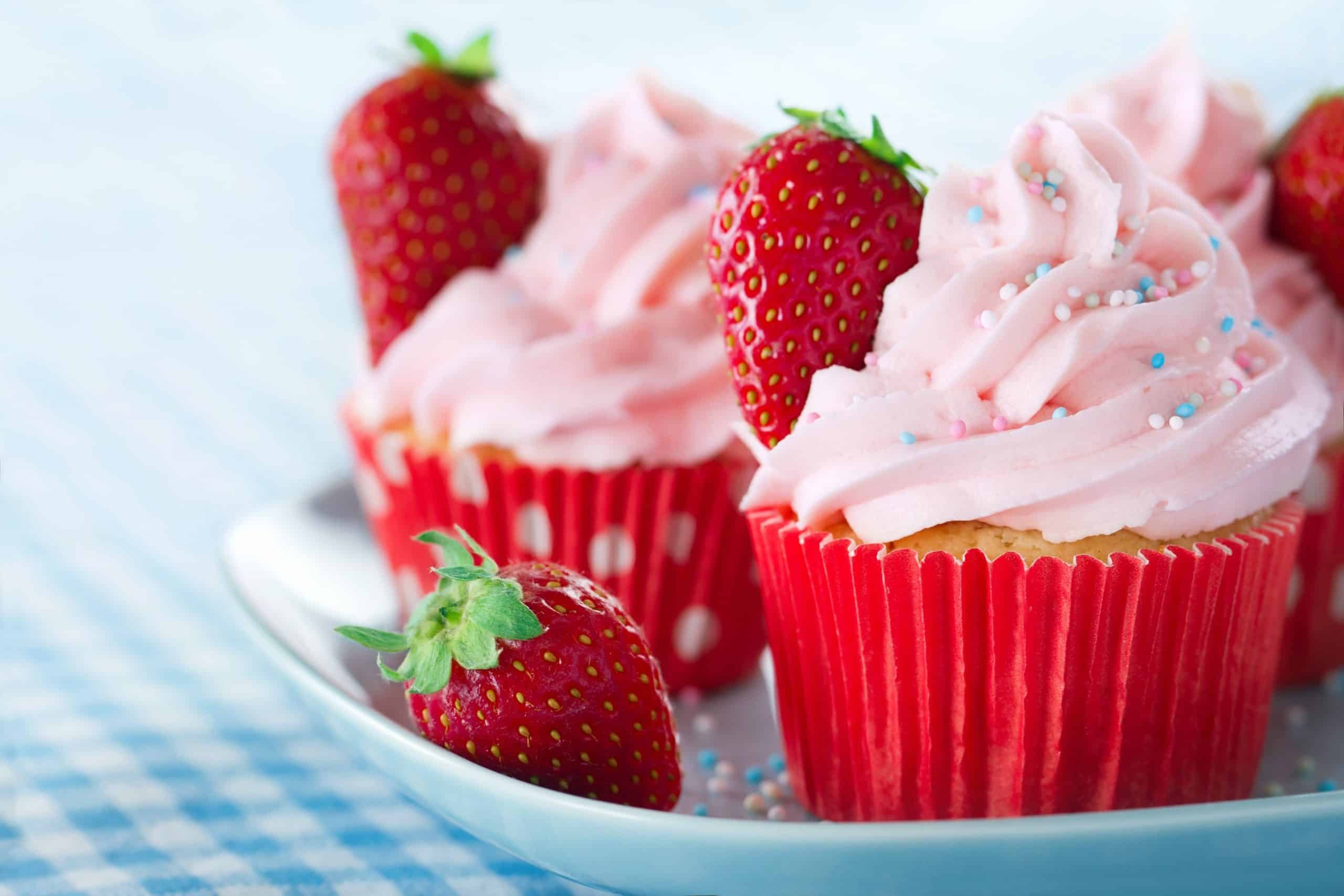 Alzheimer's Society Cupcake Day Very Berry Vegan Cupcake
