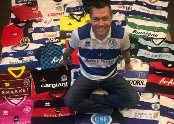 QPR supporter Chris Kemp. Credit;SWNS