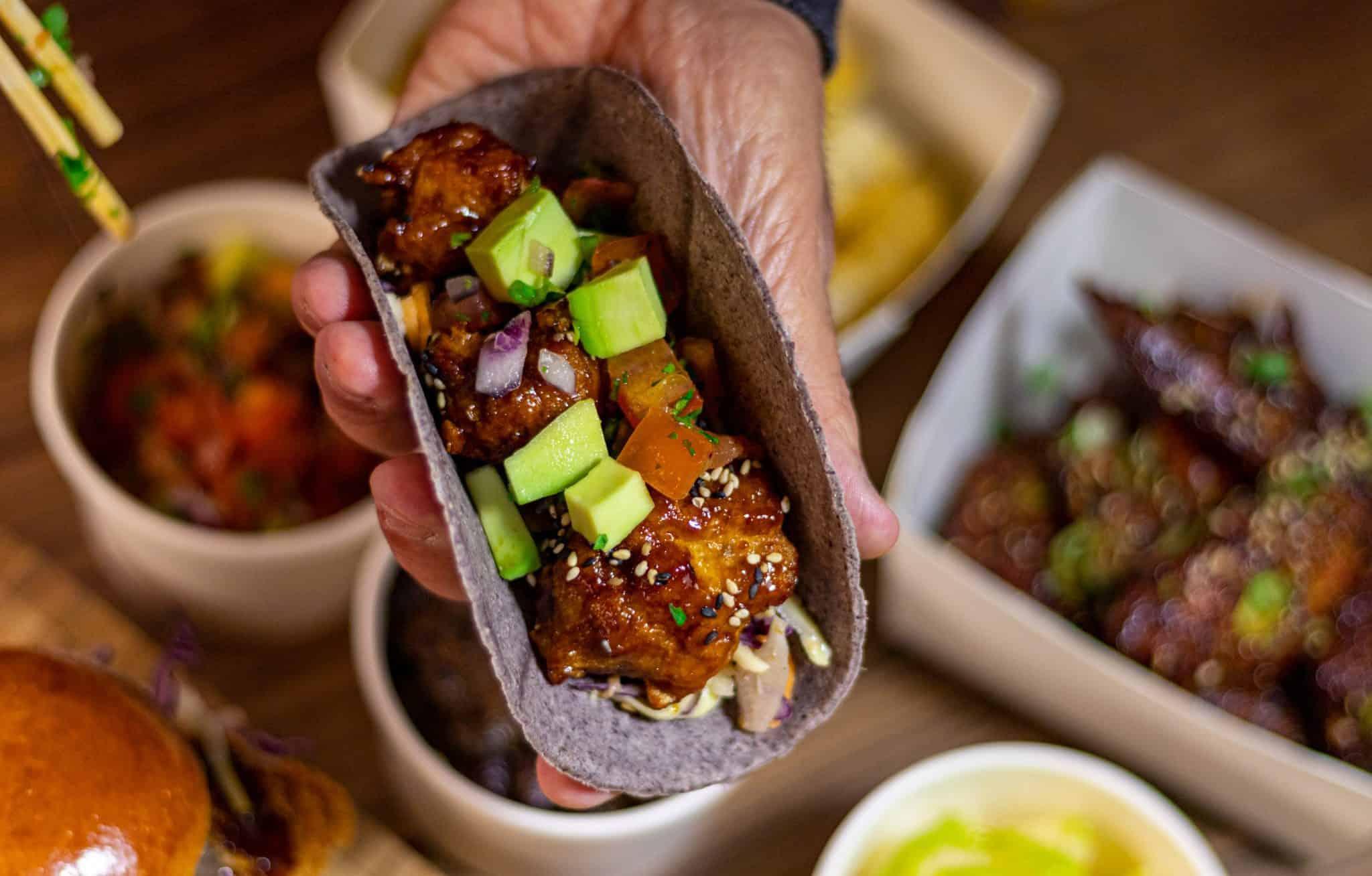 Japanified Blue Corn Taco DIY meal kits
