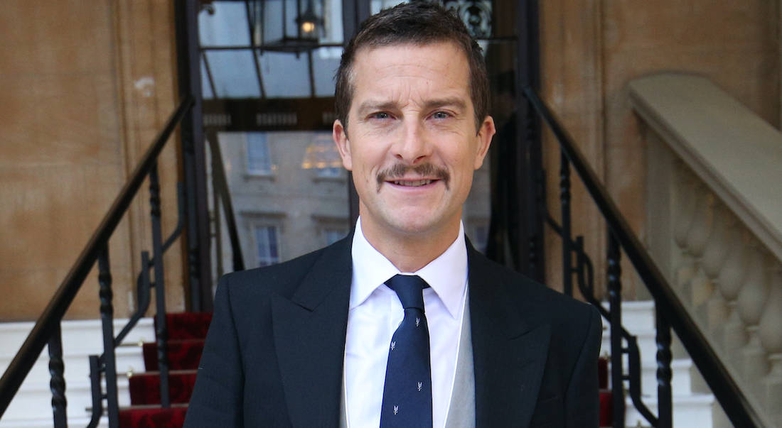 Bear Grylls arrives for his investiture ceremony at Buckingham Palace, London. Credit;PA