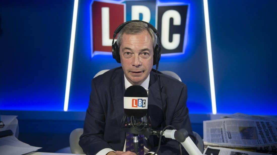 Nigel Farage leaves LBC with immediate effect