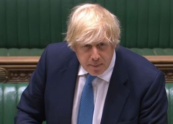Prime Minister Boris Johnson giving a statement in the House of Commons on the role of global Britain and the reorganisation of the Department for International Development.