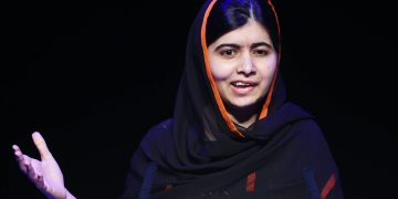 Malala Yousafzai speaks during the Association of School and College Leaders annual conference at the International Convention Centre (ICC), Birmingham. credit;PA