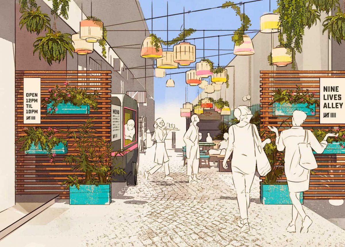 Nine Lives Alley render