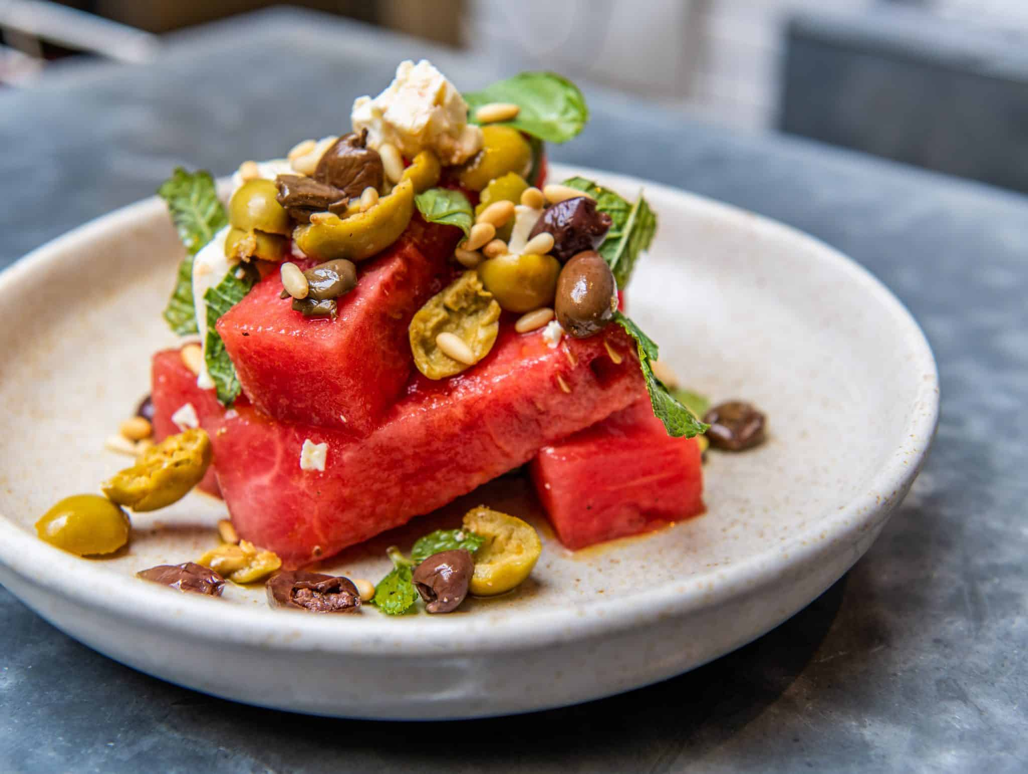 10 Greek Street barbecue recipes watermelon salad | Photo: Nic Crilly-Hargrave