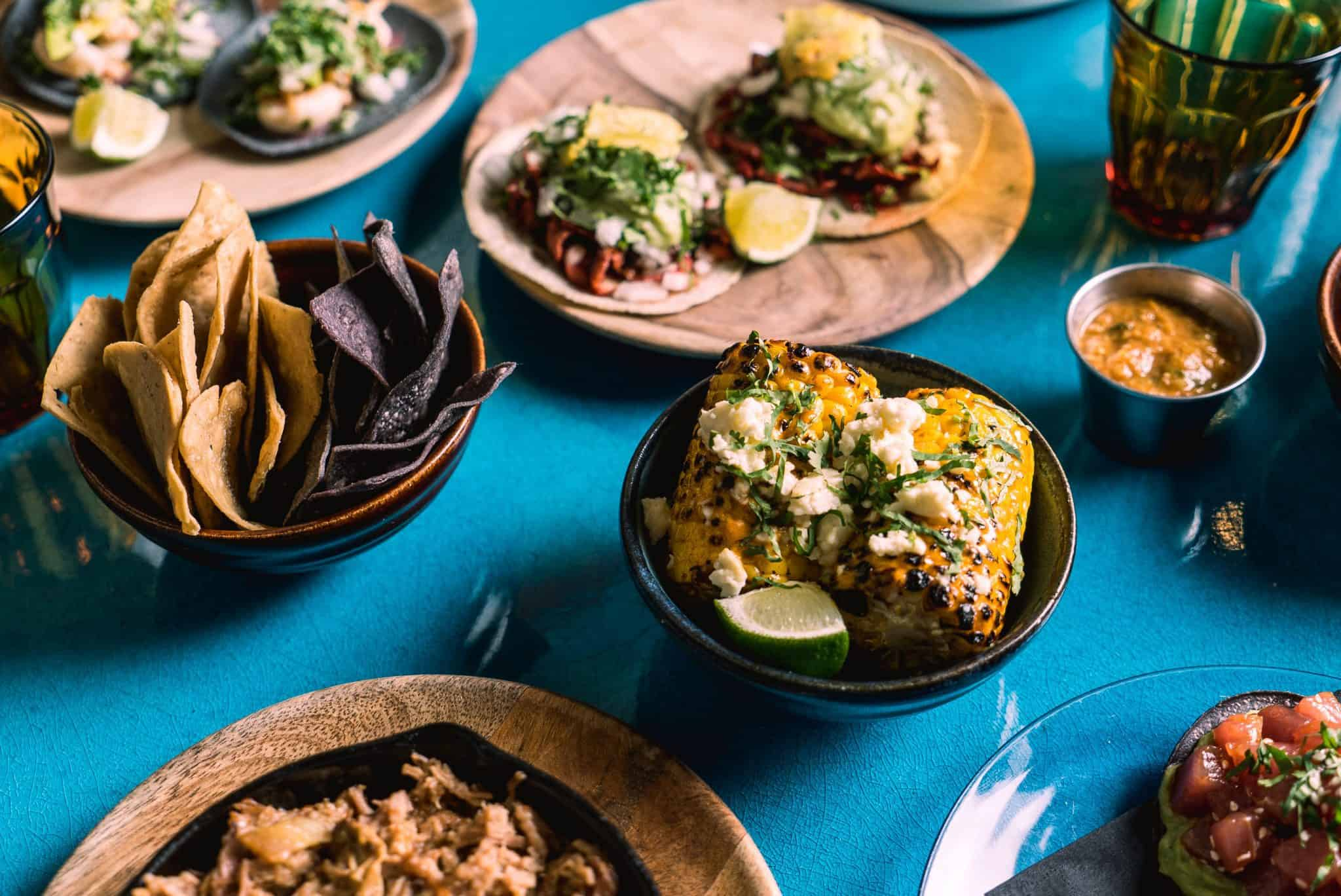 El Pastor taco spread al fresco | Photo: Sam Ashton