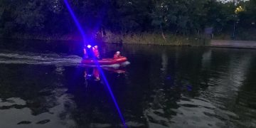 Rescue on the scene on the River Medway in Maidstone.  Credit;SWNS