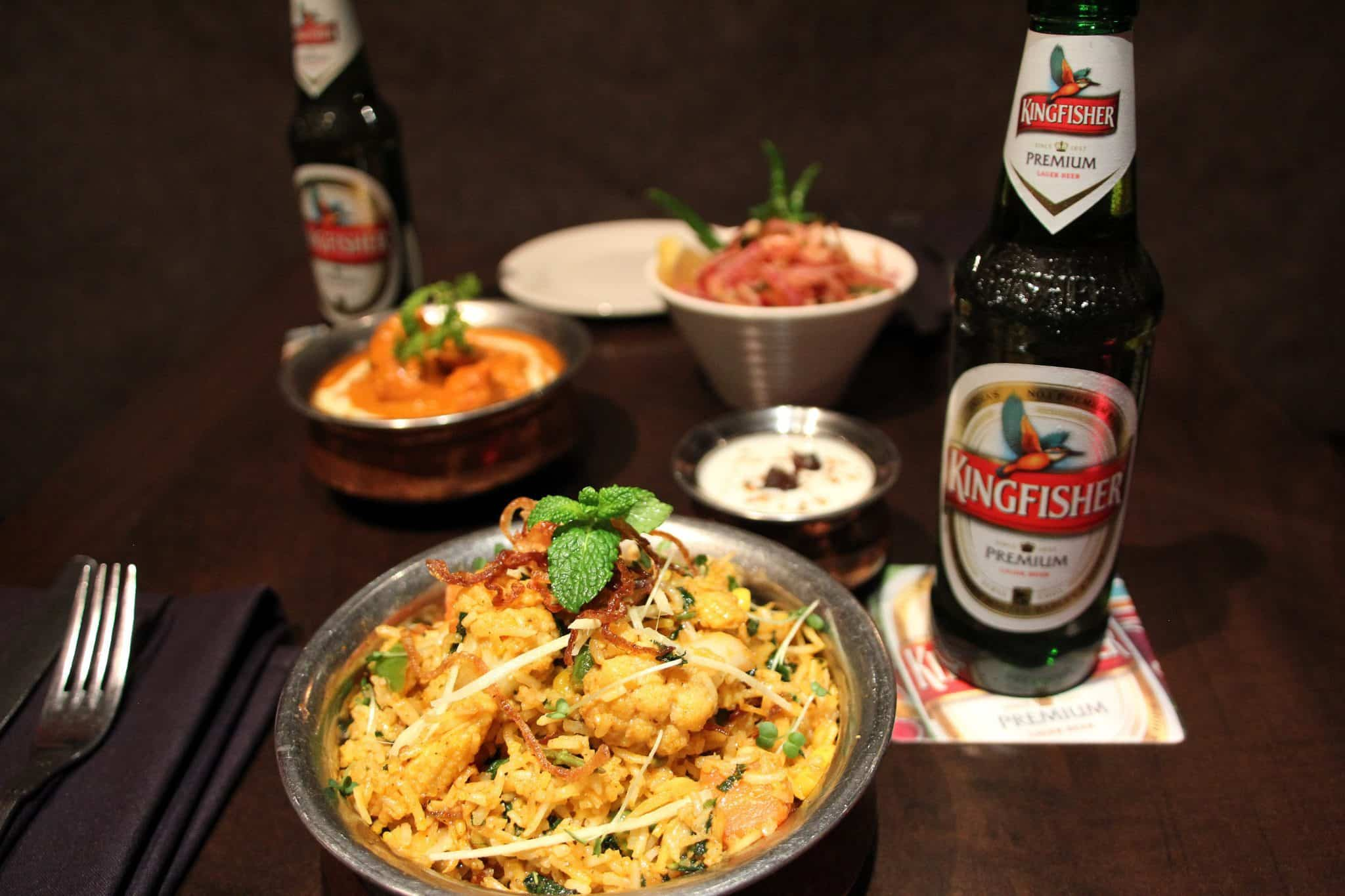Kingfisher Beer curry houses