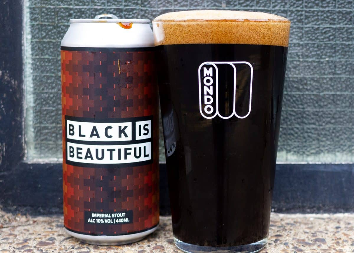 Mondo Brewing Black is Beautiful can