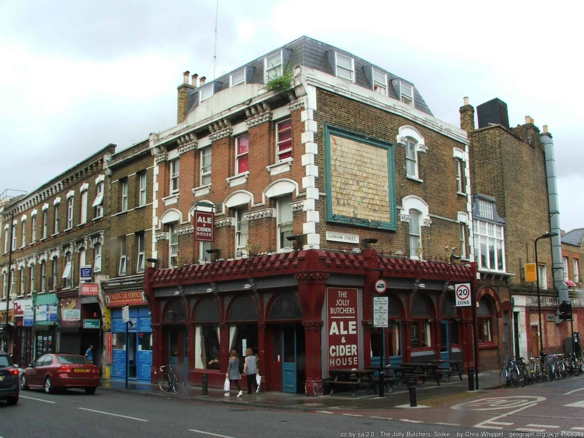 Best pubs in North London Jolly Butchers N16 geograph-4568340-by-Chris-Whippet