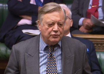 Conservative MP Ken Clarke speaks during Prime Minister's Questions in the House of Commons, London.
