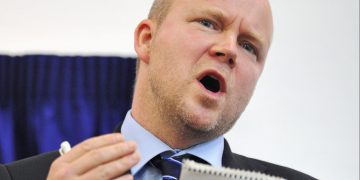 Toby Young speaks at the newly opened West London Free School.