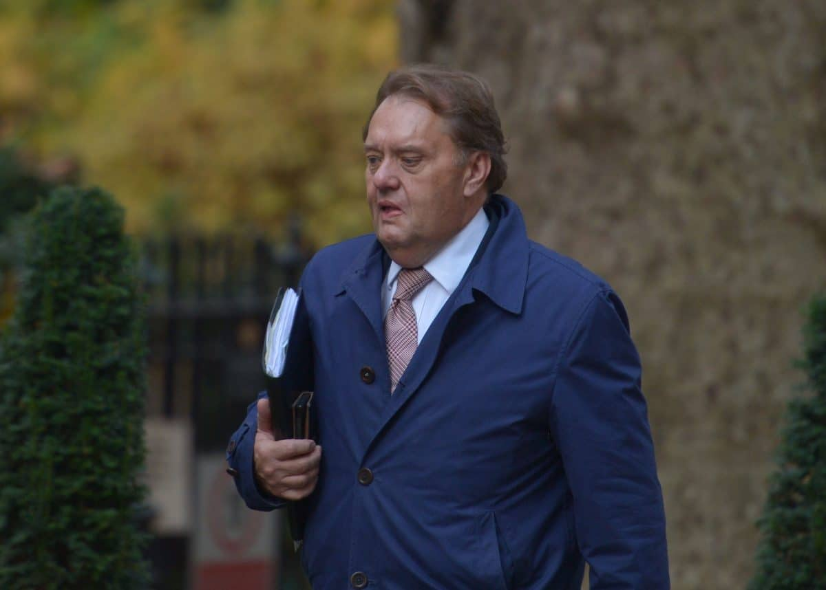 Conservative MP John Hayes arrives in Downing Street, London.