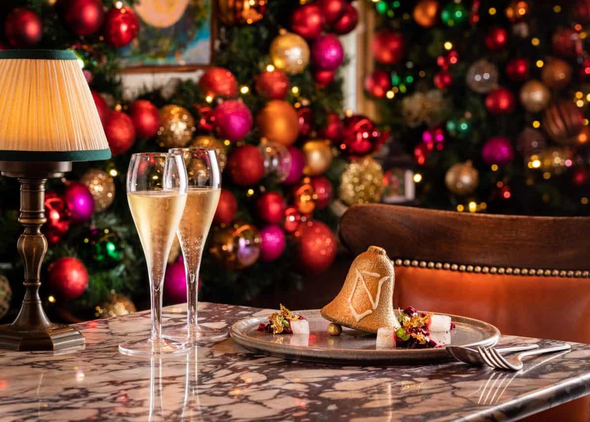 34 Mayfair Nyetimber Golden Bell festive drink