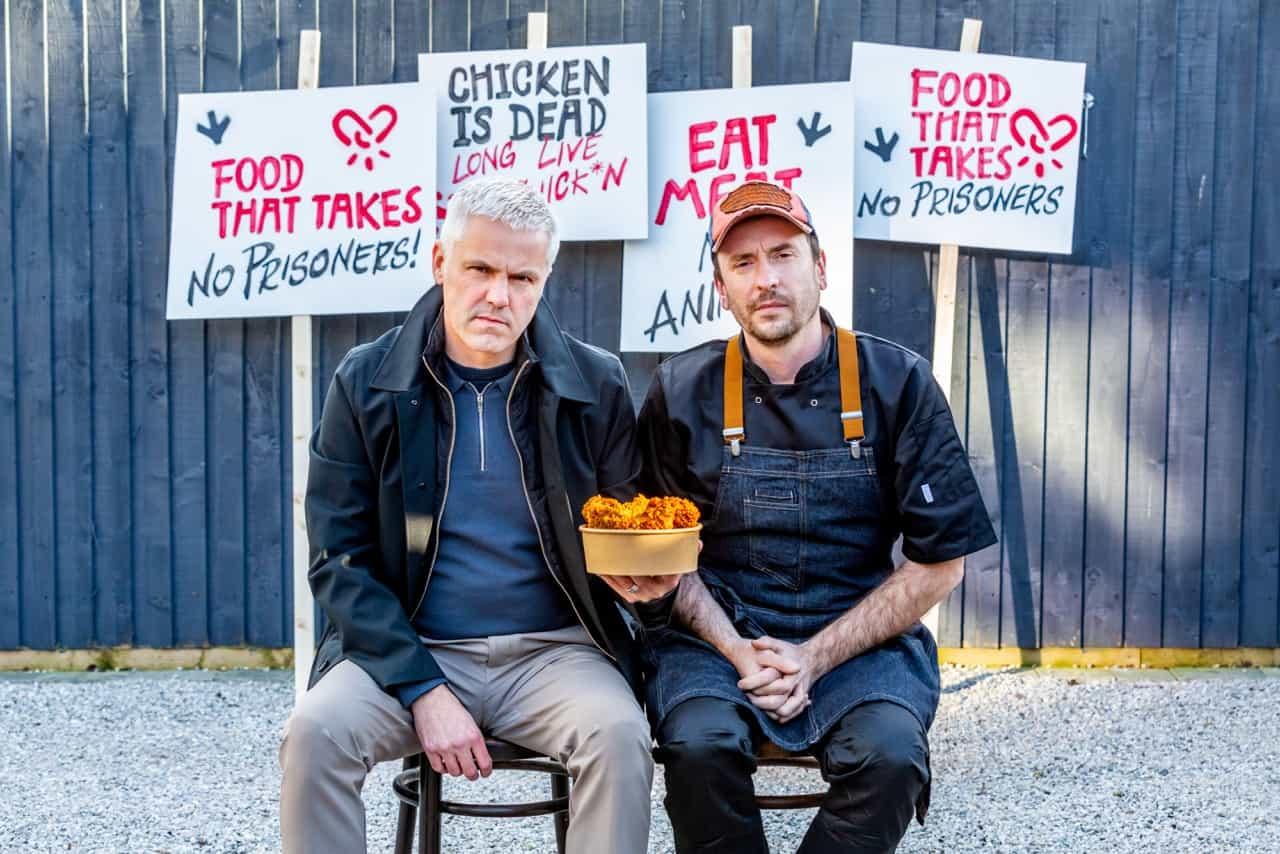 VFC vegan fried chick*n founders Matthew and Adam portrait
