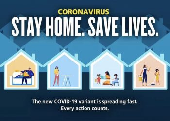 """Grab from Twitter showing a """"stay home, save lives"""" poster which has been withdrawn by the Government following a backlash over its apparently sexist depiction of women. The poster has been axed because it 'does not reflect' the Government's views. Issue date: Thursday January 28, 2021. Credit;PA"""