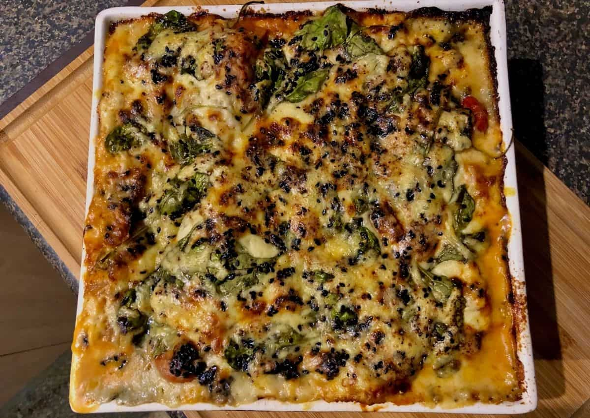 Vegetarian Lasagna A Hearty Dish That Tastes Just Like The Real Thing