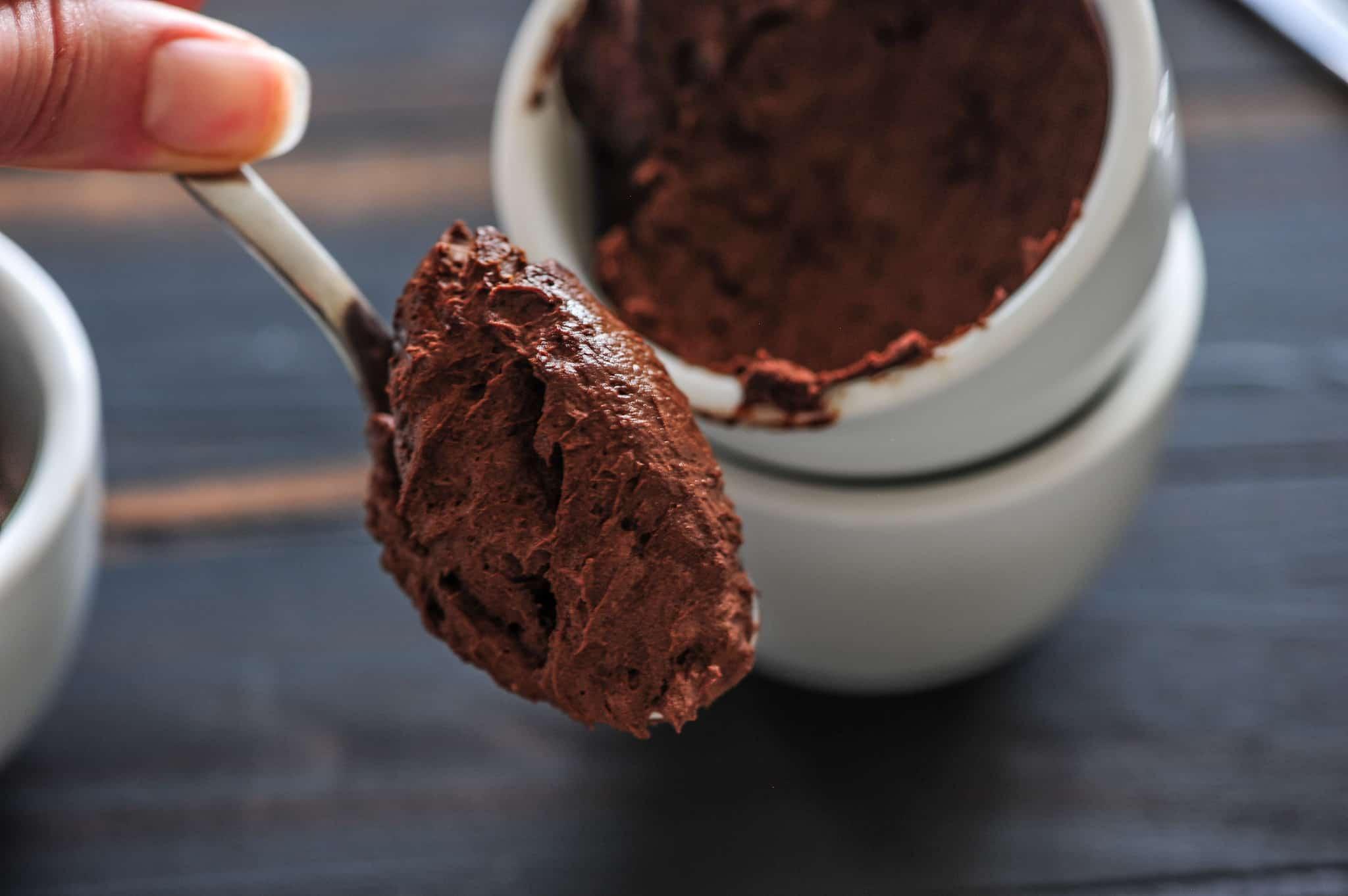 Avocado chocolate mousse unusual food pairings
