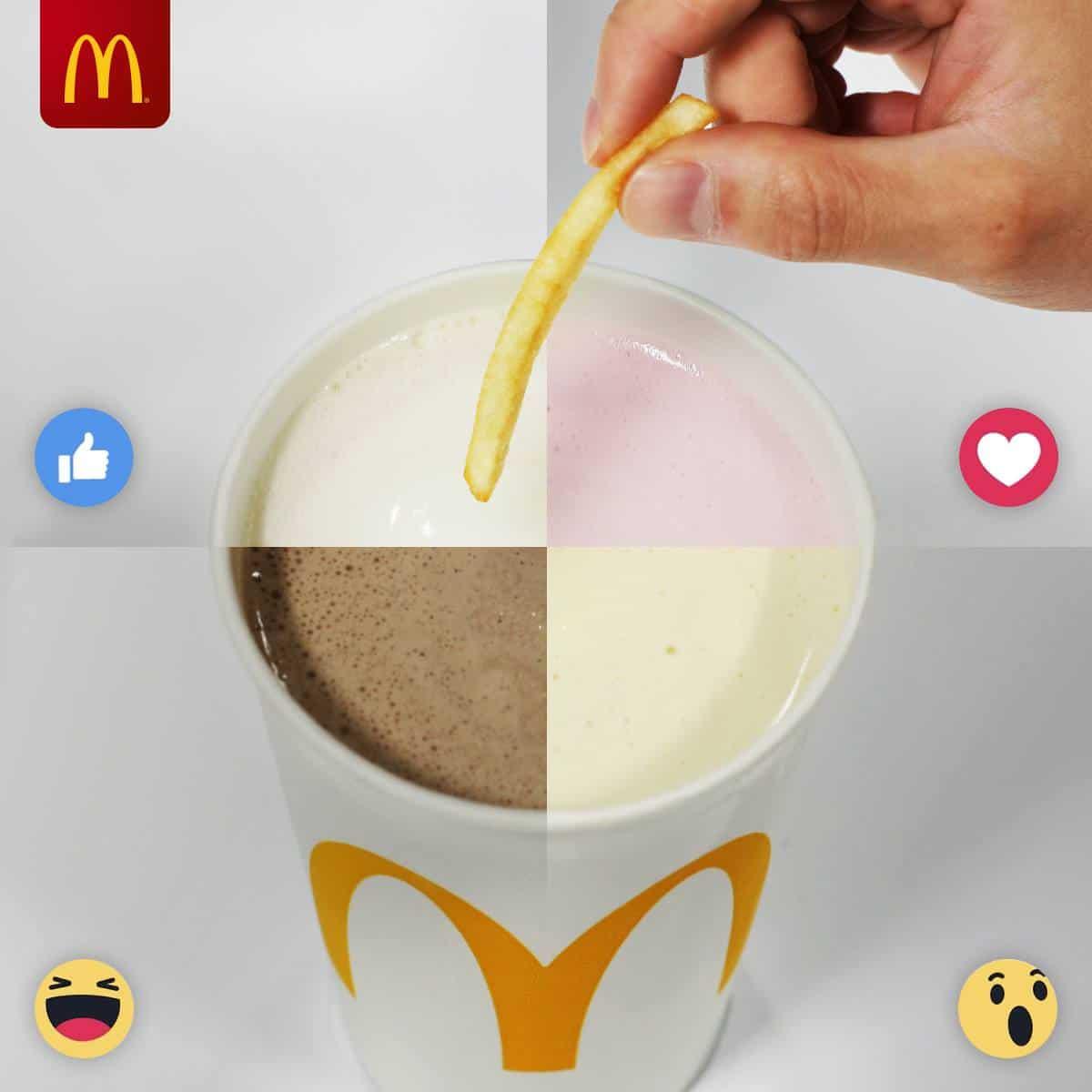McDonald's fries and milkshake | Photo: McDonalds / Facebook
