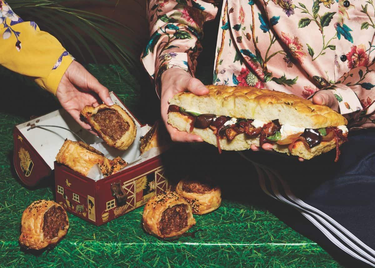 Caponata mozzarella sandwiches recipe Photo: Twisted & Louise Hagger