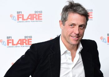 Hugh Grant attends the 30th anniversary screening of James Ivory's Maurice during the BFI Flare: London LGBTQ Film Festival at BFI Southbank, London.
