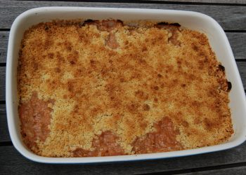 Rhubarb crumble recipe | Photo: Myriam, CC BY-SA 3.0, via Wikimedia Commons
