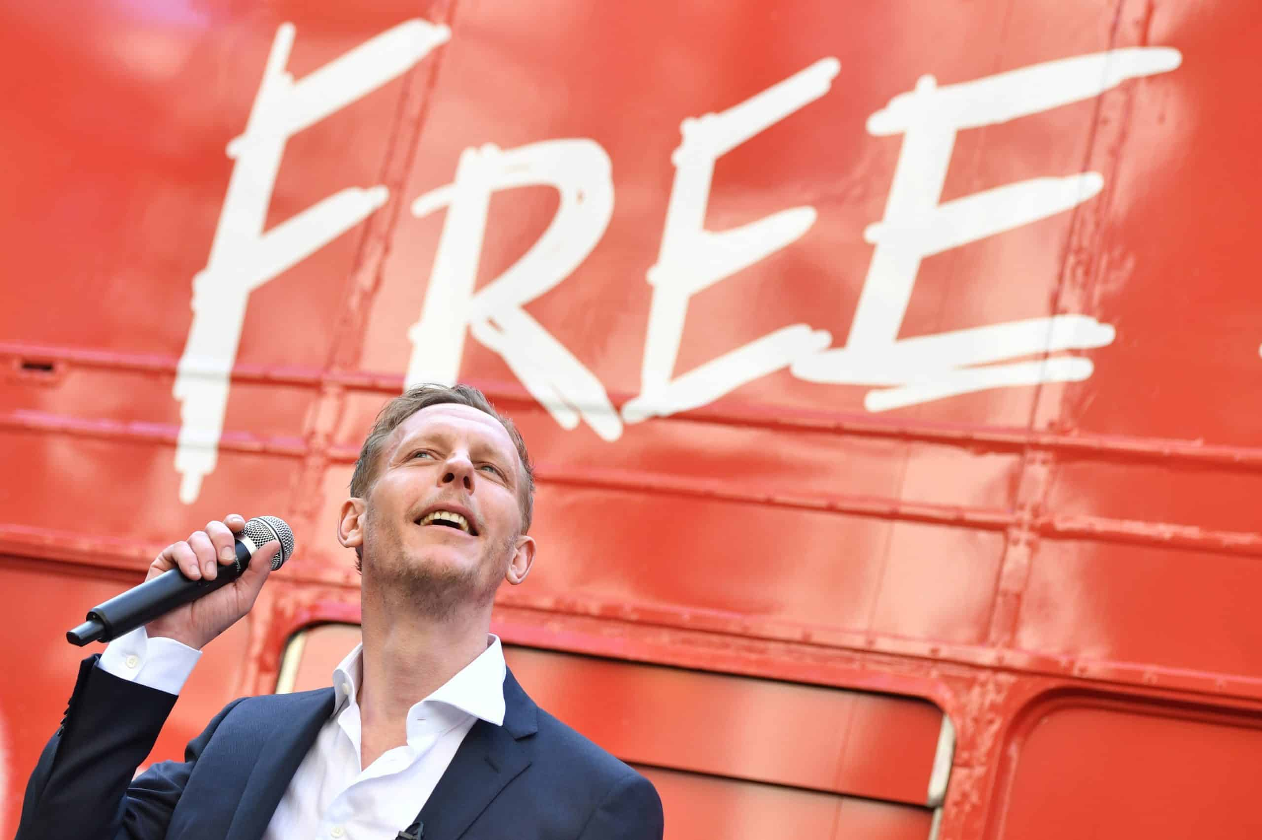 Laurence Fox loses his head after discovering Pride traffic lights in London