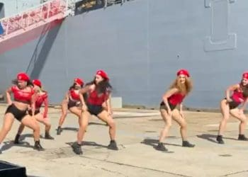 Twerking Navy Dance troupe 101 Doll Squadron