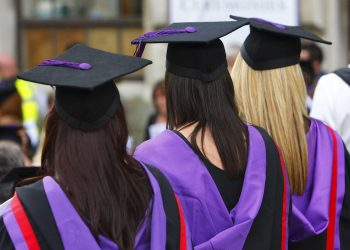 Embargoed to 0930 Friday June 05 File photo dated 16/07/08 of university graduates. Action will be needed to combat the impact of the Covid-19 pandemic on people from deprived areas hoping to go to university, a new report has said.