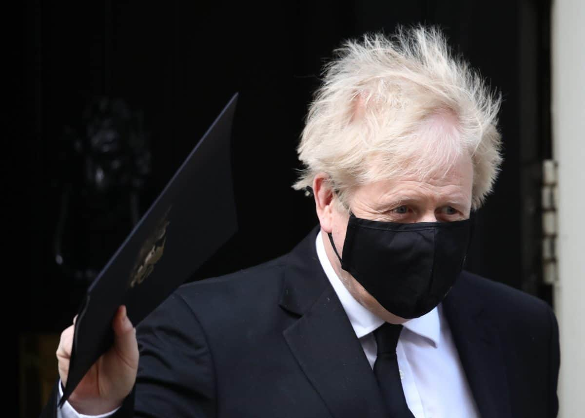 Prime Minister Boris Johnson, who appears to have had a haircut on the first day of the easing of lockdown restrictions in England, leaving 10 Downing Street in Westminster heading for the Houses of Parliament. Picture date: Monday April 12, 2021.