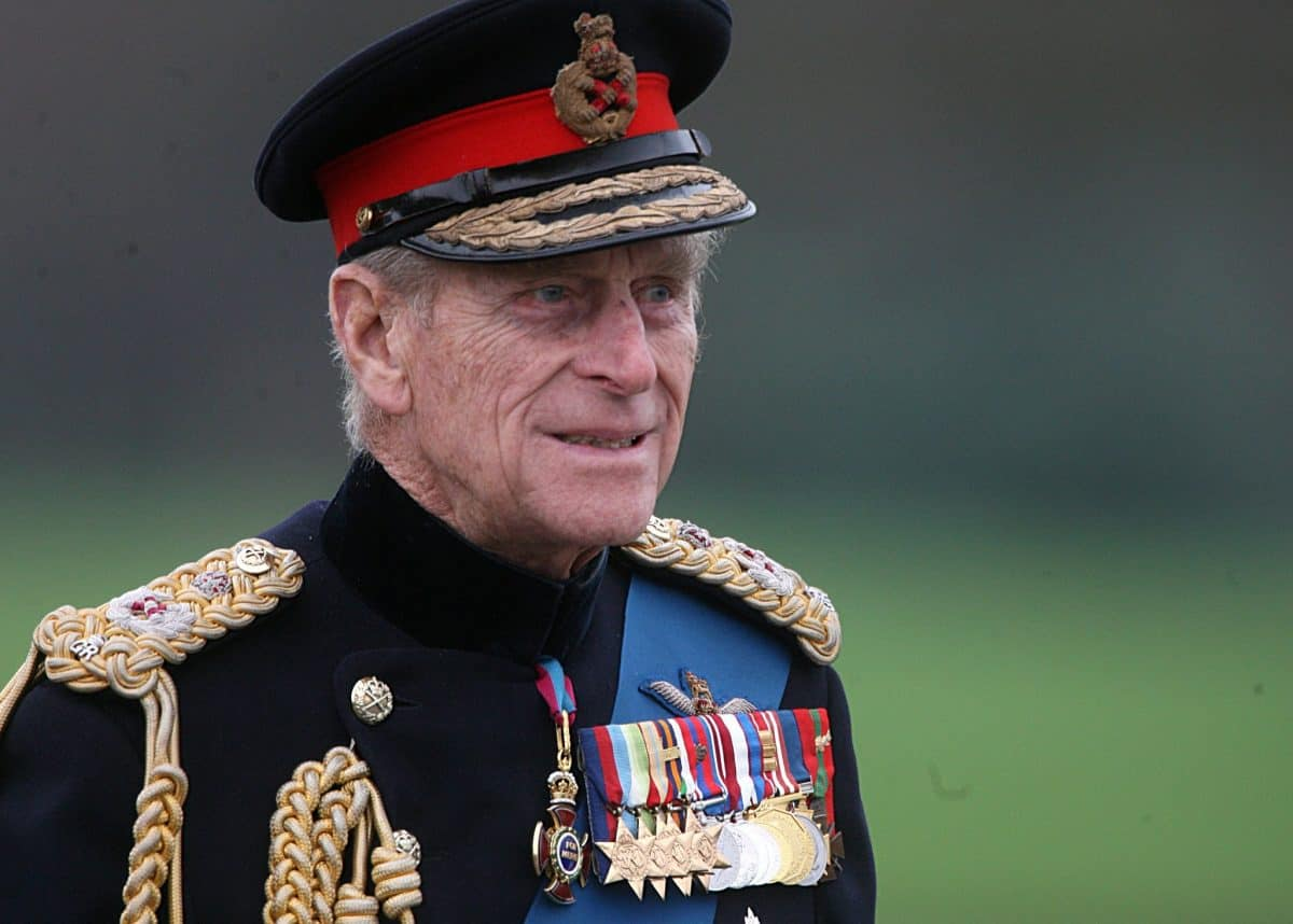 The Duke of Edinburgh arrives at the Sovereign's Parade at the Royal Military Academy Sandhurst