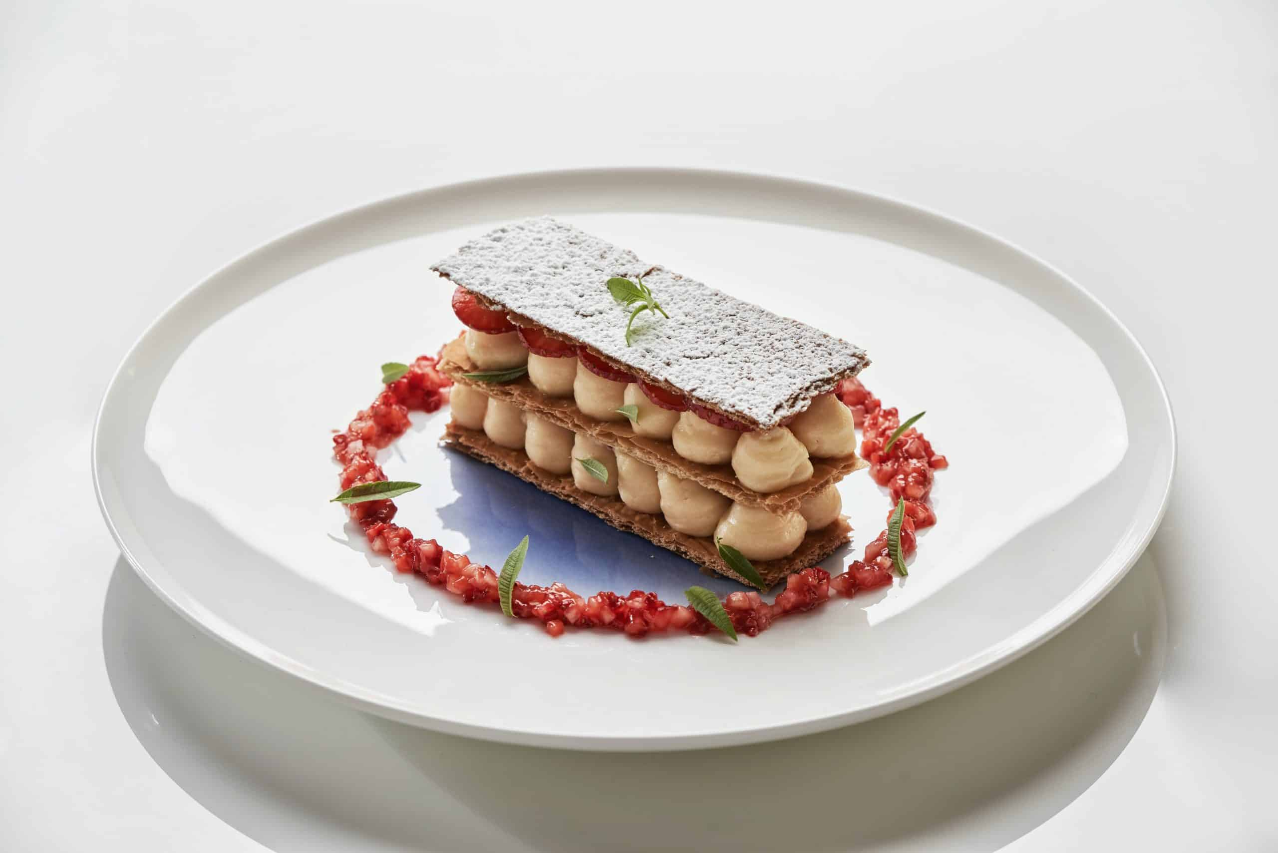 Pied à Terre's Strawberry Millefeuille recipe