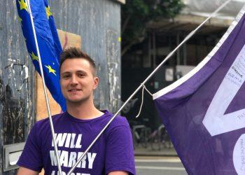 Volt UK's co-president Alex Haida