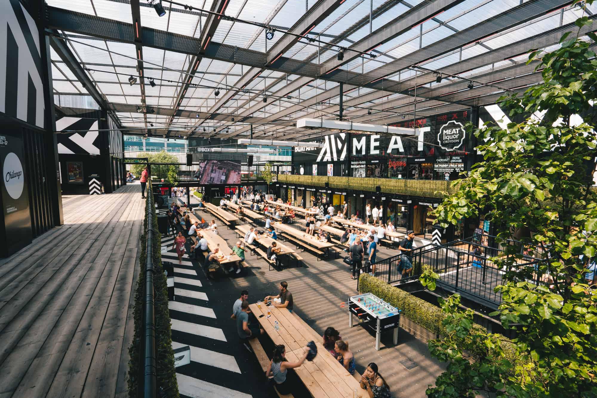 Boxpark Croydon beer gardens outdoor drinking