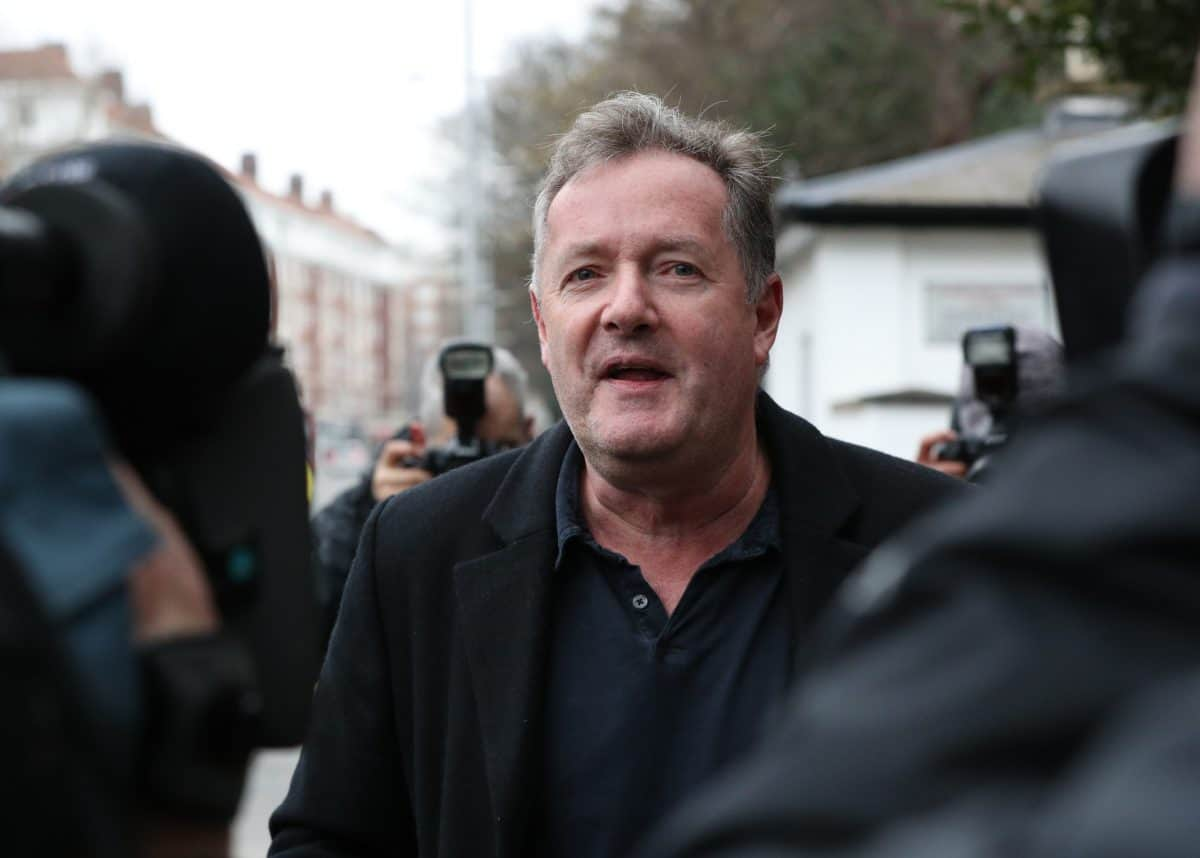 Piers Morgan speaks to reporters outside his home in Kensington, central London, the morning after it was announced by broadcaster ITV that he was leaving as a host of Good Morning Britain. Picture date: Wednesday March 10, 2021.