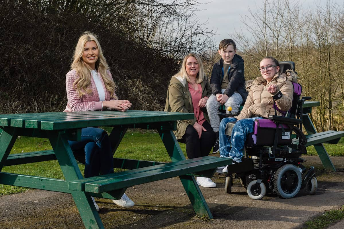 McCain supports the Family Fund, featuring the Waite family (mum Kirsty, with Heidi (13) and Noah (8)) and Christine McGuinness, in Runcorn, Cheshire, March 22 2021. Credit;SWNS