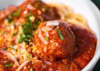Spaghetti and Meatballs recipe Photo by Jason Leung on Unsplash