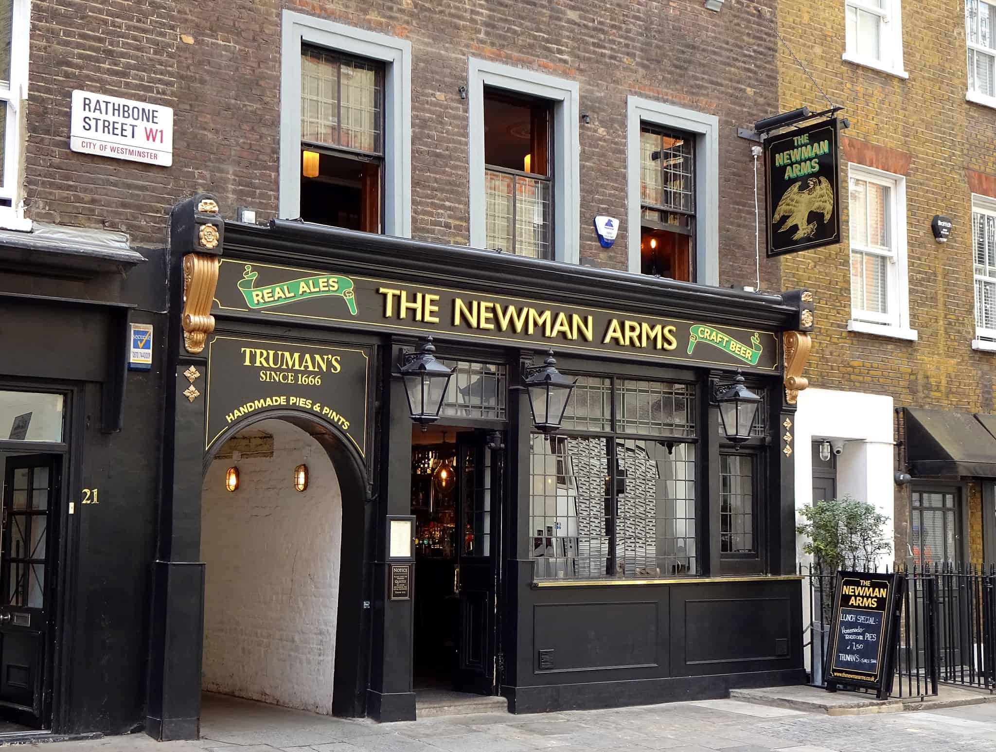 The Newman Arms, best pubs in central London | Photo: Kake / Flickr